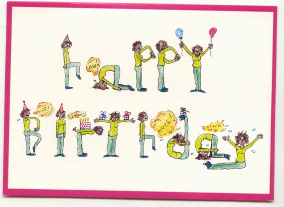 Yoga Birthday Card Etsy