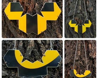 Hexagon Road Sign Necklaces