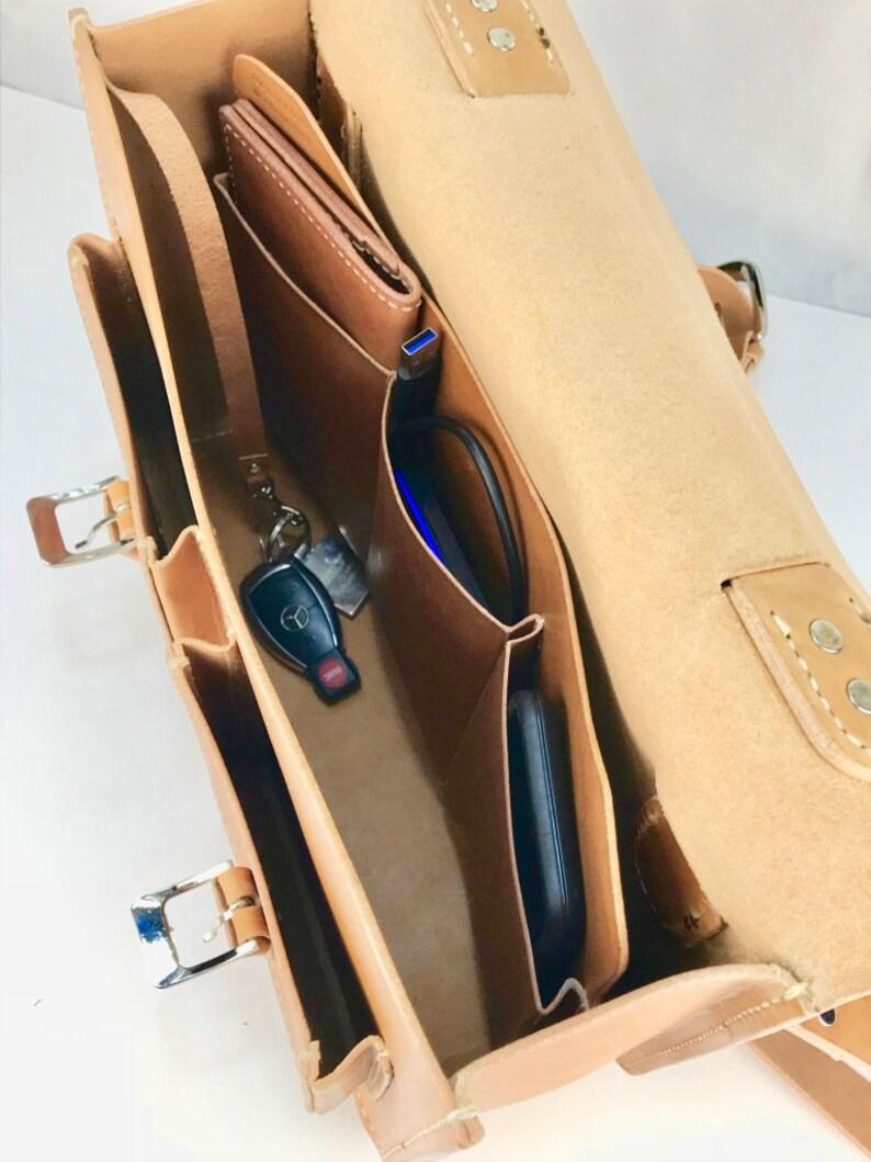 Leather Briefcase Leather Messenger Bag Leather shoulder bag Mac Book Pro 16 NLBAS