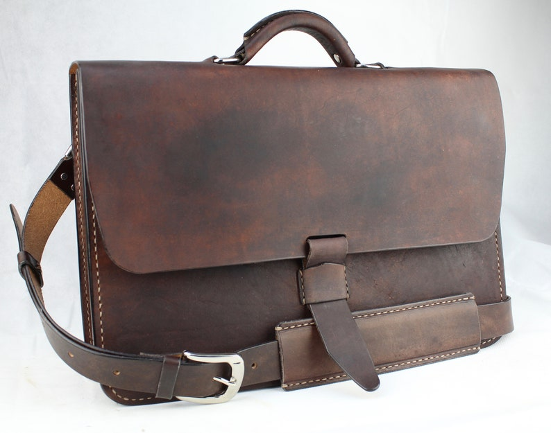 682871c714e9 Leather Messenger Bag Leather Briefcase Laptop Satchel fits