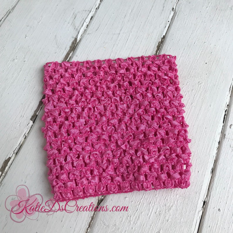 Hot Pink 5 Inch Crocheted Headband Tutu Top Hot Pink Etsy