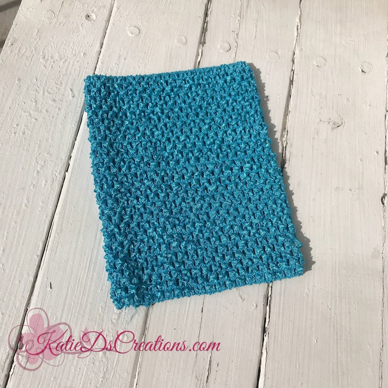 Turquoise 8 Inch Tutu Top Crocheted Headband Crocheted Etsy