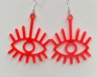 Bright Resin Eye Earrings