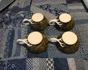 Stoneware Pottery Children's Soup Mug, Pottery Coffee Mug, Hand thrown pottery, Ceramics Coffee Mug, Grey Gray, Antler Mug