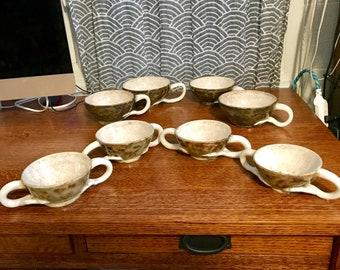 Stoneware Pottery Soup Mug, Pottery Coffee Mug, Hand thrown pottery, Ceramics Coffee Mug, Grey Gray, Antler Mug