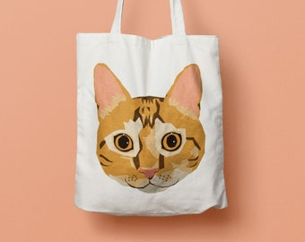 Orange Cat Tote