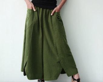 NO.41 Women's Wide Leg Palazzo Pants #Light Olive