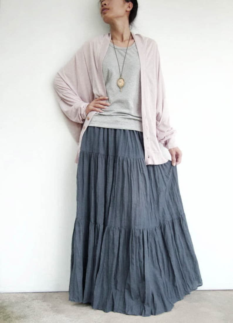NO.5 Women's Hippie Gypsy Boho Tiered Peasant Long Maxi image 0
