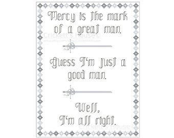 I'm all right - Cross Stitch Pattern - Quotes - Firefly - Mal - INSTANT DOWNLOAD