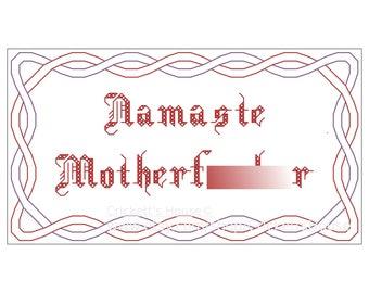 Namaste - Cross-Stitch Pattern - MATURE - Memes - INSTANT DOWNLOAD