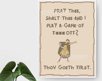 Play a Game - Cross-Stitch Pattern - MATURE - Memes - INSTANT DOWNLOAD