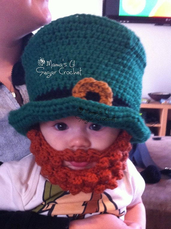 Leprechaun Set Irish Hat   beard Leprechaun Hat St Patricks  5135db1a566