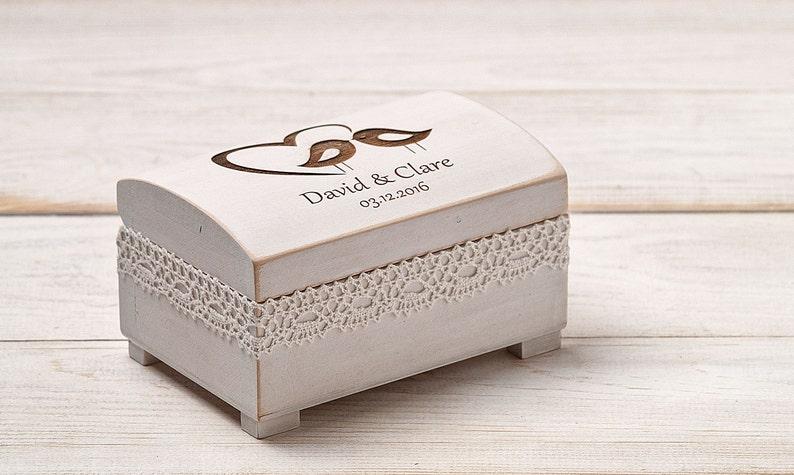 Rustic Ring Box Love Birds Personalized Ring Box,Wedding Ring Holder Wedding Ring Box Wedding Ring Bearer Ring Pillow Ring Bearer Box