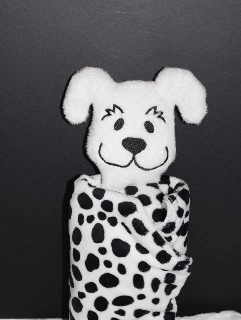 Minky Dalmatian Puppy Snuggle Pal Lovey for Baby image 0
