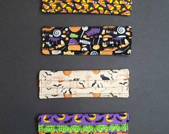 3 Layer Halloween Fabric Adjustable Masks -Pleated, Adult/Child, Cotton Fabric Washable Face Masks