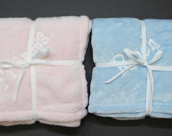 Personalized Plush Baby Receiving Blanket