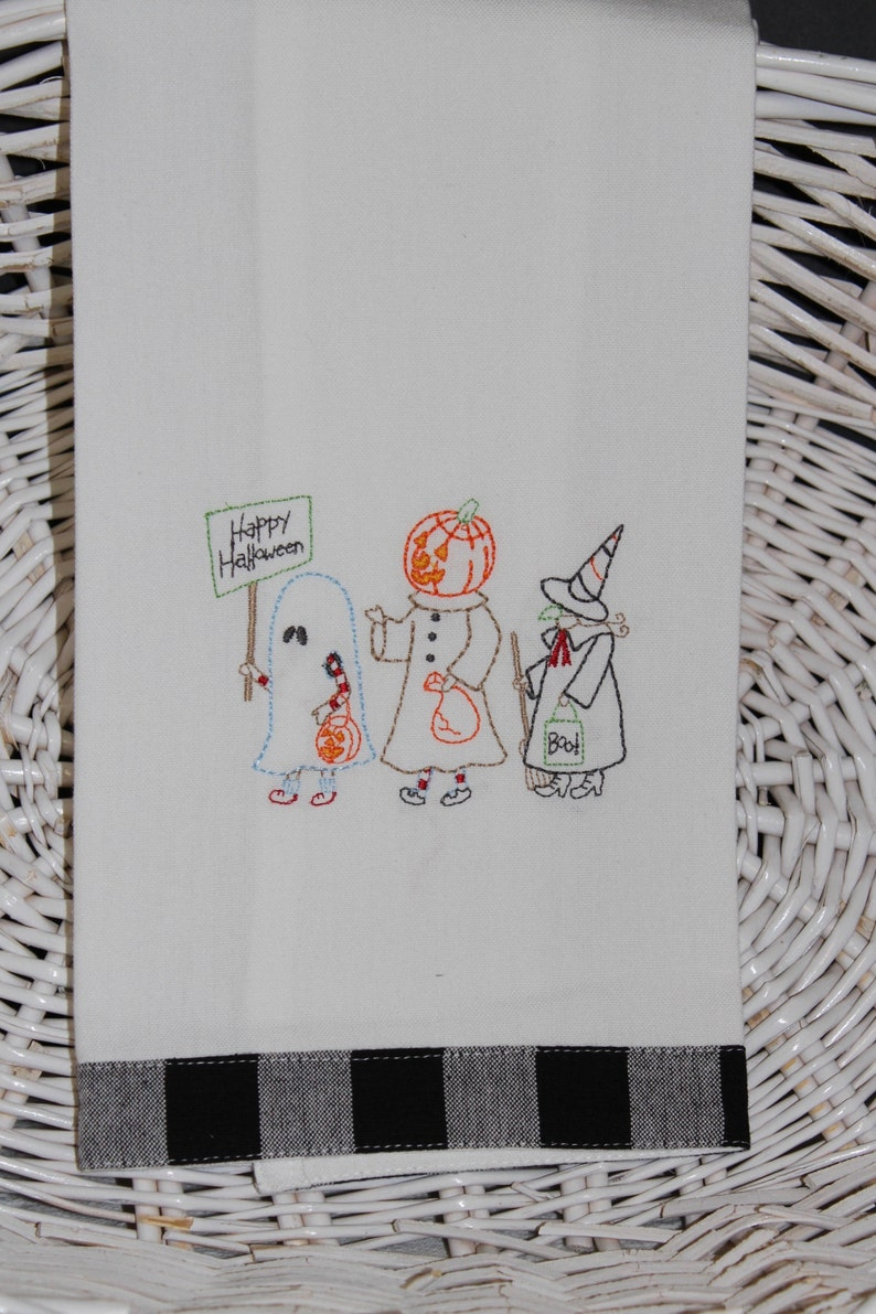 Halloween Trick or Treaters Kitchen Towel image 0