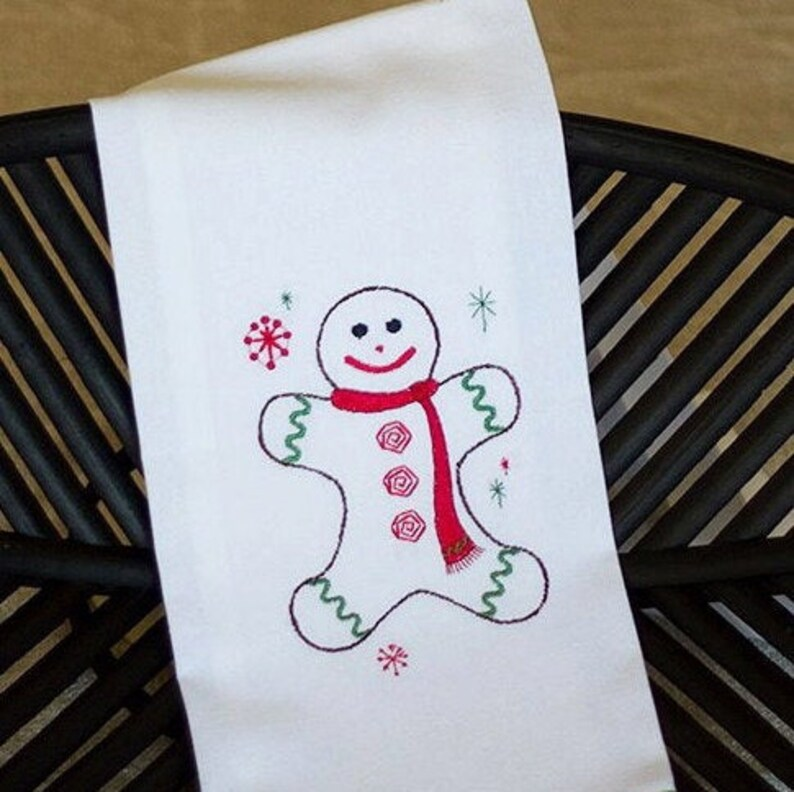 Christmas Kitchen Towel with Gingerbread Man image 0