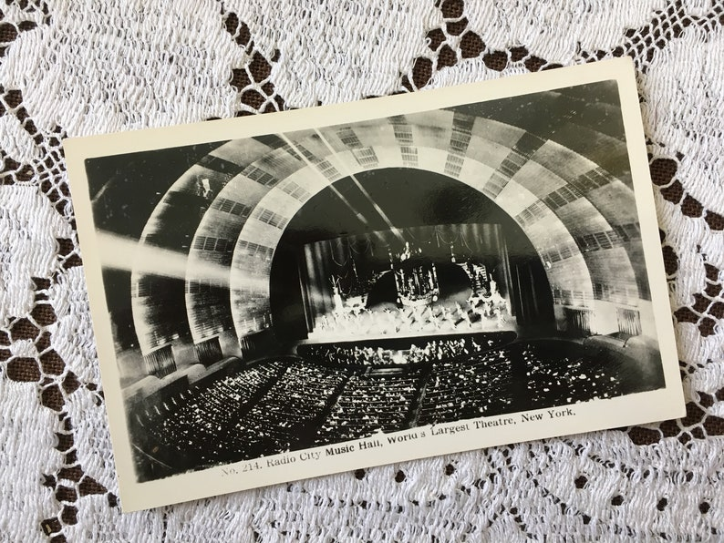 Black And White Postcard From >> Vintage 1930s Black White Photo Postcard Post Card Radio Etsy