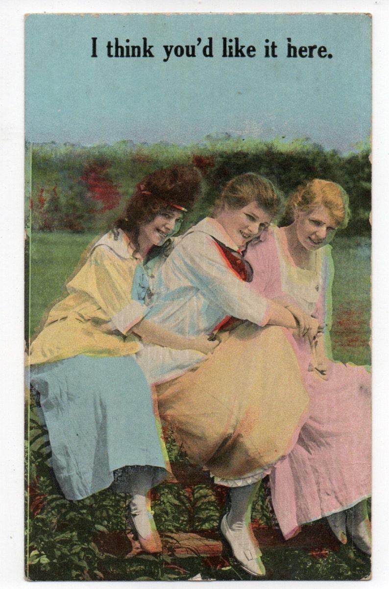 Antique Edwardian Colorized Photo Postcard Greeting Card 1900s image 0