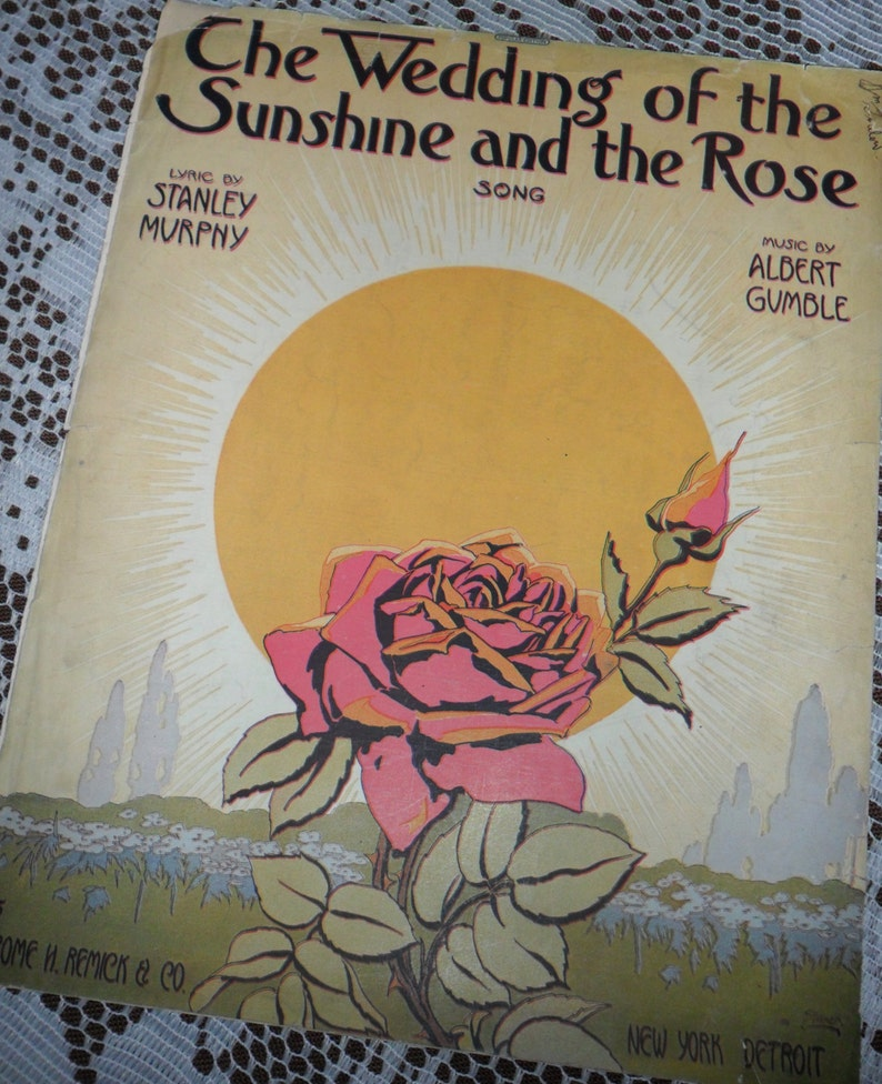 Vintage Antique 1915 The Wedding of The Sunshine & The Rose image 0