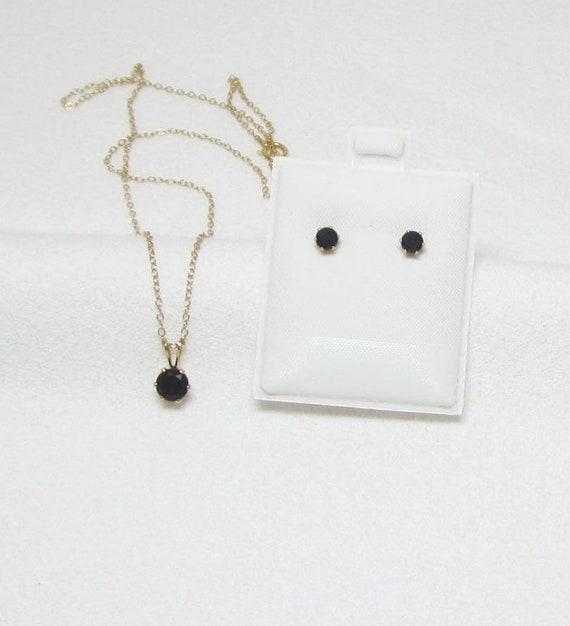 Un bonito collar de Lágrima Hematita /& Clip en Pendiente Conjunto Nueva.