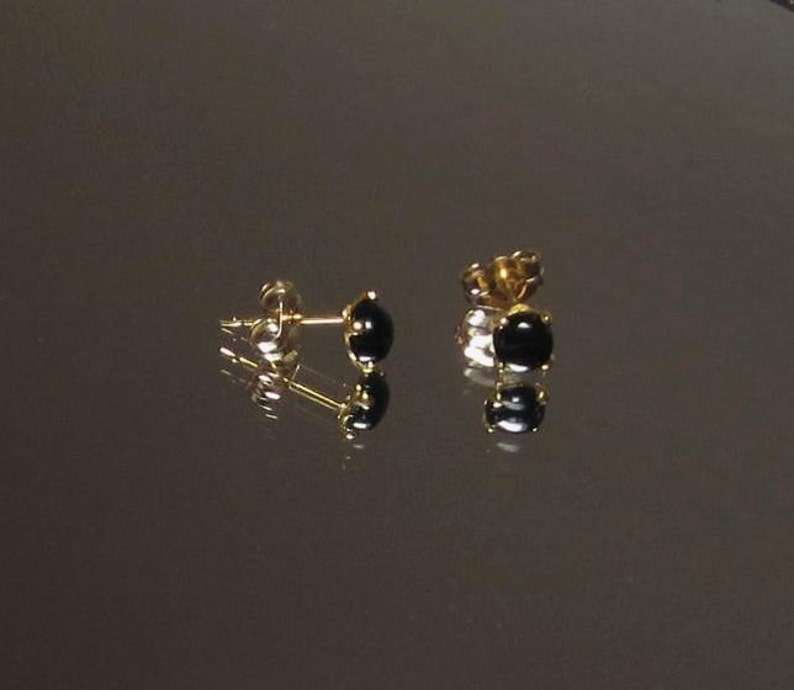 New Faux Onyx Heavy Setting Silver Cuff links Cufflinks studs Gift Boxed!