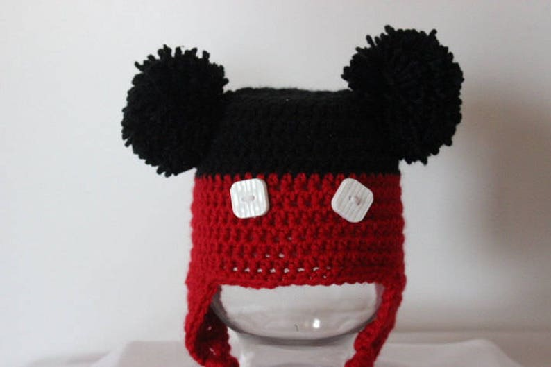 Mickey Mouse Crochet Hat,Perfect for gift giving Crochet hat,child hat,winter hat,character hat,acrylic hat