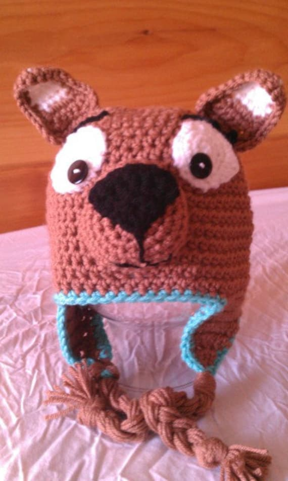 Scooby Doo Crochet Hat Perfect for winter Photo Prop 72bc8afd8af2