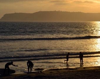 Surfers on Coronado