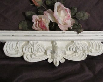 Antique Wood Small Corbel Shabby Cottage Chic Gingerbread Vtg 292-17R