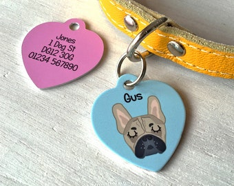 c2a024fa7e9f Dog Tag - Heart Dog Tag - Dog id tag - Personalised - personalised heart -  heart - personalized dog tag - personalized pet tag - dog tags