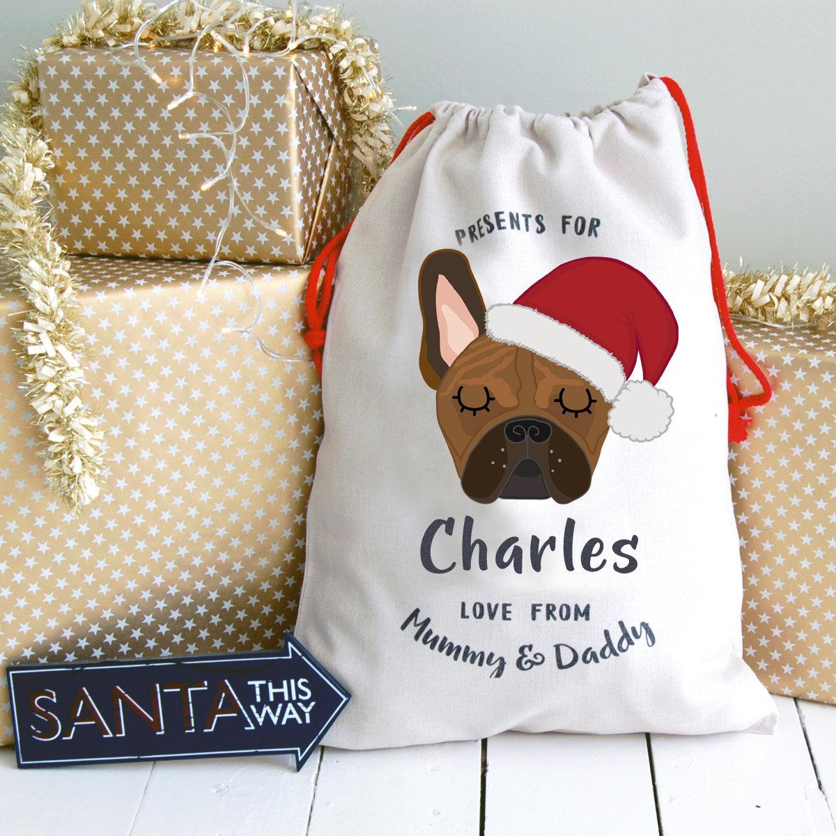 Französische Bulldogge weihnachtsmütze Weihnachten Sack Hund | Etsy