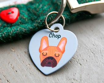 Dog Tag - Heart Dog Tag - Dog id tags - Personalised - dog name tag - pet tag - personalized dog tag - dog tag in the UK - dog tags - custom