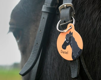Equestrian Horse ID Tag - Personalised Horse Bridle Tag - Equine Name Tag - Horses - Horse Tack - Horse Charm - Horse Bridle Tag