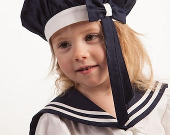 f9df1549a7b Girl sailor hat baby girl sailor bonnet girl sailor berets kids cap girl  sailor accessories girl party hat navy blue mariner nautical berets
