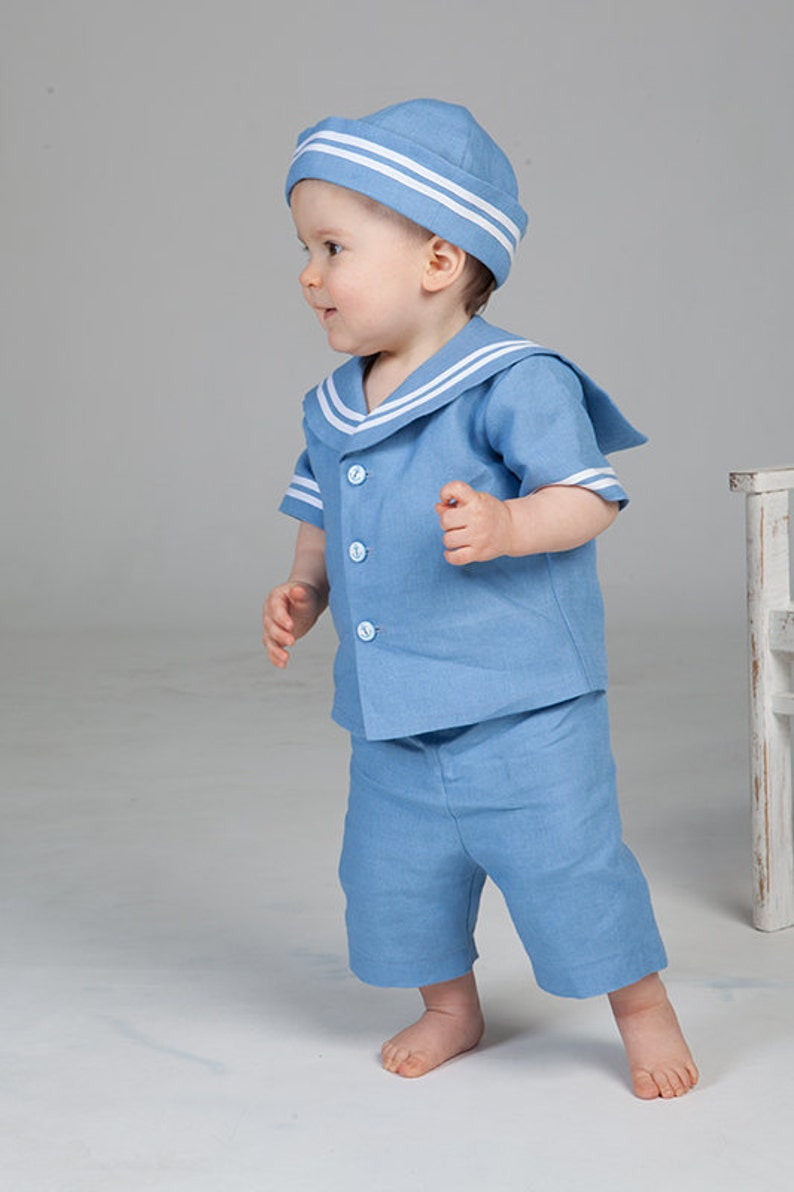 Baby boy sailor outfit Baptism outfit Christening suit Ring  108cb6fa5025