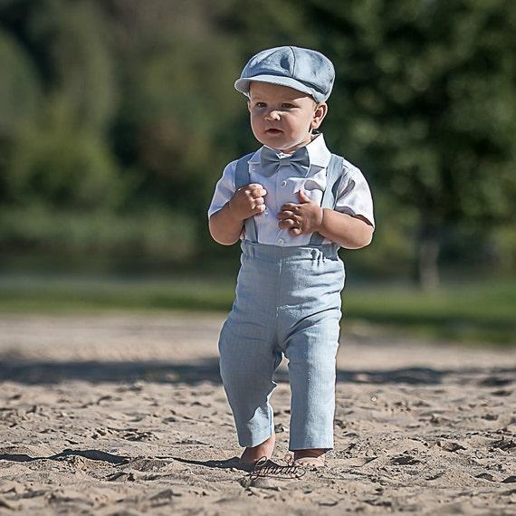 Baby Junge Hochzeitsanzug Ringtrager Schiebermutze Outfit Baby Etsy