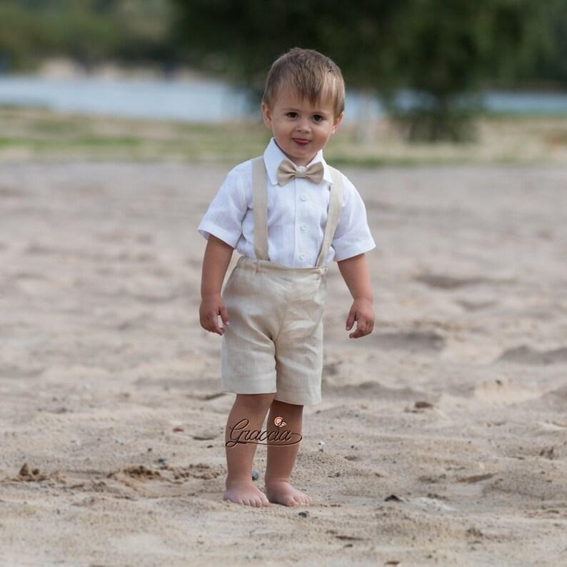 c57cdeff7ba00 Anneau porteur tenue bébé garçon baptême vêtements tailleur en