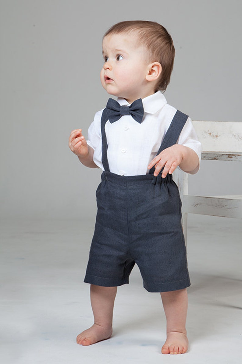 a72578170 Baby boy linen suit Ring bearer outfit First birthday