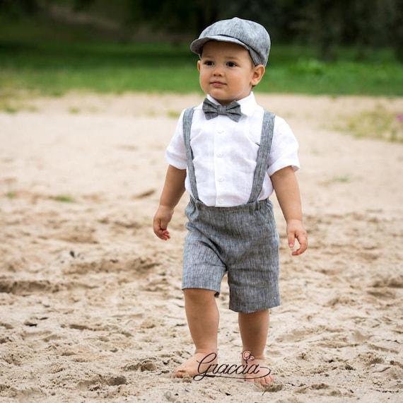 Ringtrager Balloon Outfit Baby Junge Leinen Anzug Hochzeit Etsy