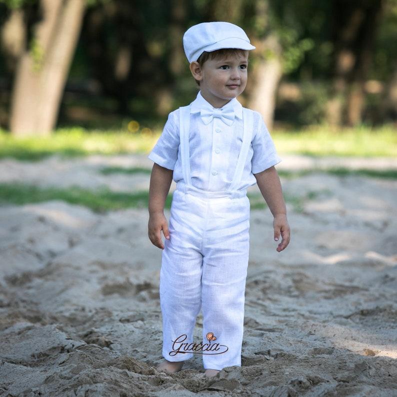 22f5eb29fb49c Costume de baptême tenue de bébé garçon blanc tenue baptême | Etsy