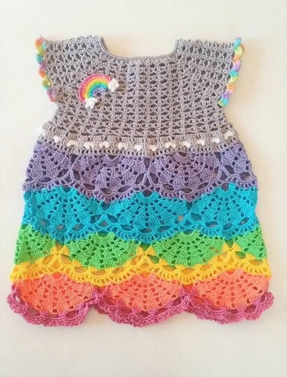 PINEAPPLE BABY DRESS SET HAND CROCHET PINK /& WHITE NEWBORN TO 3 MONTH SIZE