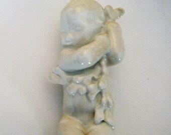 Svend Lindhardt 3x Child Sick Porcelain Figurine White Larger Version