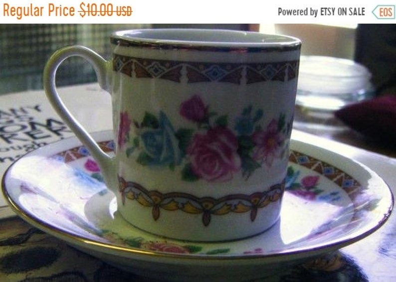 30% Off Pretty Vintage Porcelain Chintz Flowered Cup and image 0