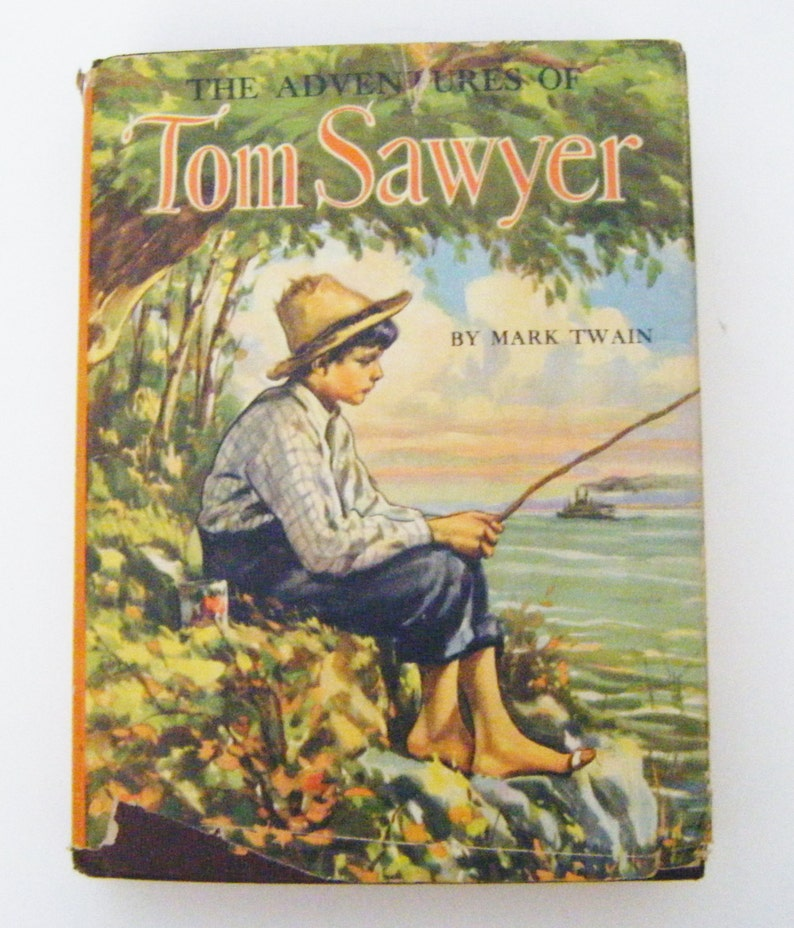 1944 The Adventures Of Tom Sawyer By Mark Twain Hardcover Book  Etsy