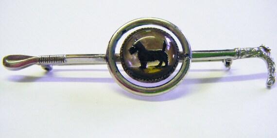 Antique Scotty Dog Brooch