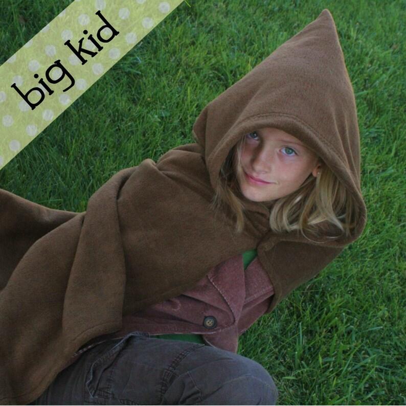 Big Kid Fleece Hobbit Cape Costume  8 10 12 14 image 0