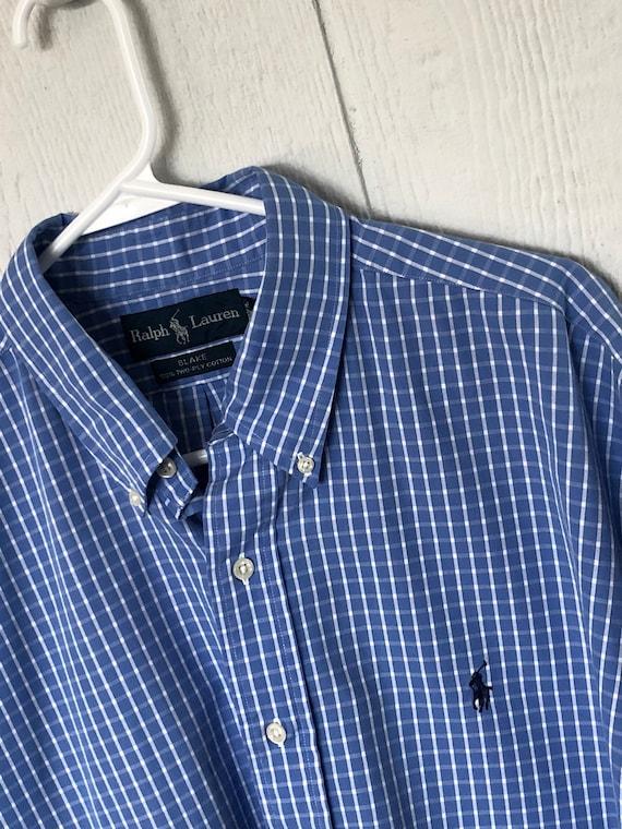 Vintage des années 90 Ralph Lauren Blake chemise à manches   Etsy 6a31dfdf6592