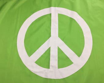 3'x5' Bright Green Peace Flag